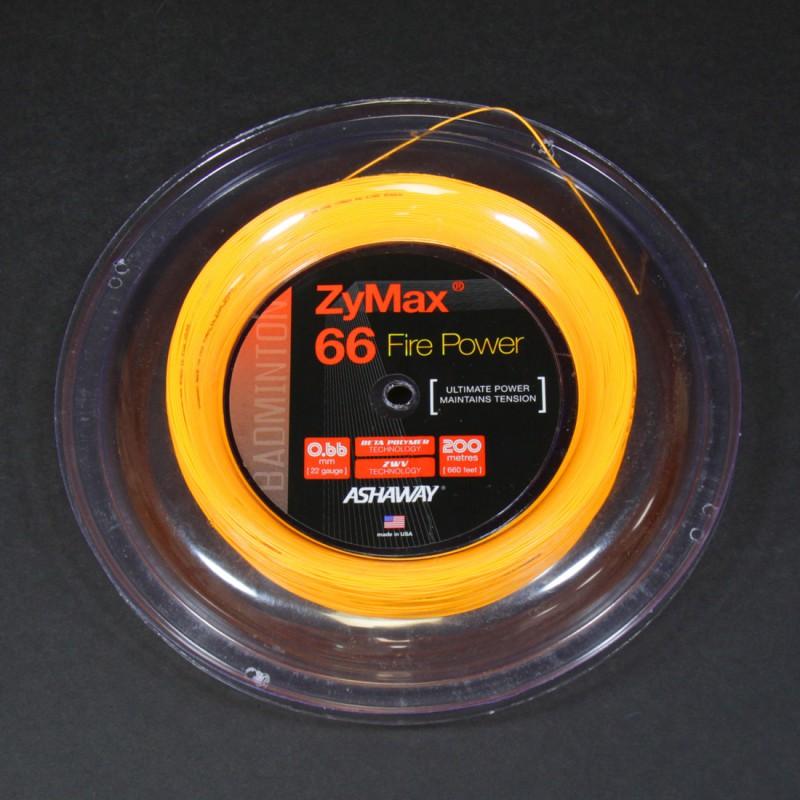 Ashaway ZyMax 66 Fire Power (Orange) keeled
