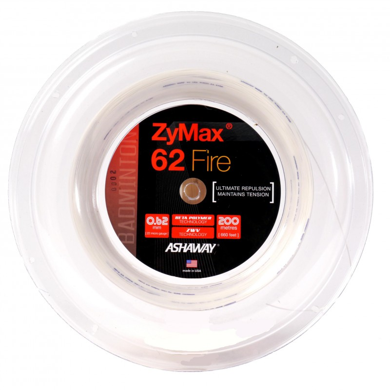 Ashaway ZyMax Fire 62 (valge) keeled